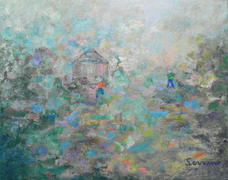 Paisajes rurales. RECOLECCIÓN Oleo/lienzo 65 x 81