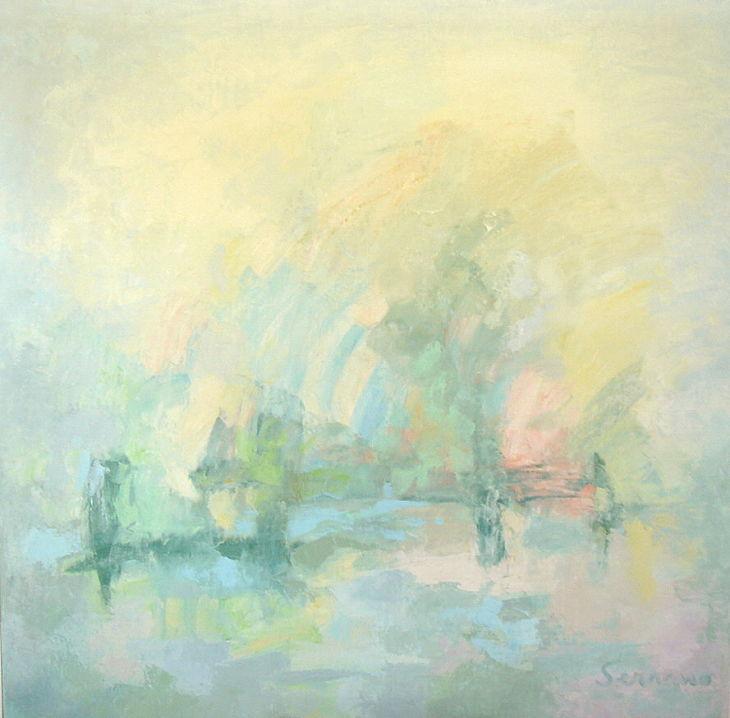 Pintura abstracta. SUEÑO REPARADOR. Óleo sobre lienzo 100 x 100