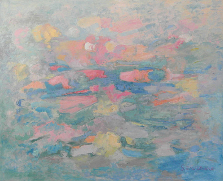 Pintura abstracta. VISIÓN ONÍRICA. Óleo sobre lienzo. 81 x 100