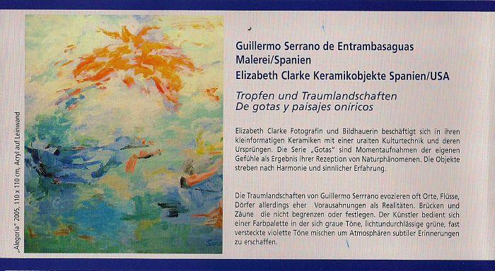Exposición en Dortmund 2006.-Invitación. Reverso