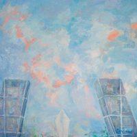 Paisajes urbanos. PLAZA DE CASTILLA. Óleo sobre lienzo. 100 x 100