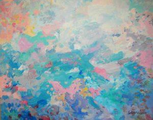 Pintura abstracta. APOCALIPSIS. Acrílico sobre lienzo. 130 x 162