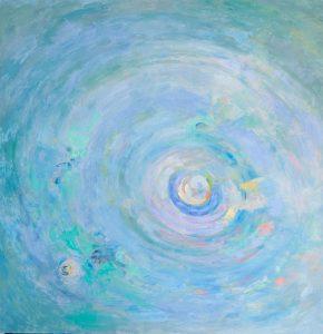 ASTEROIDE. Óleo sobre lienzo. 100 x 100