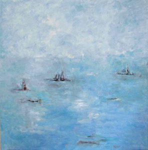 ENTRE LA BRUMA II Oleo sobre lienzo 100 x 100