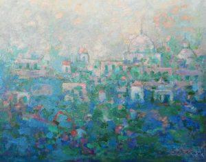 MEZQUITA Oleo sobre lienzo 65 x 81