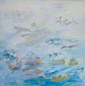 SUBLIMACIÓN I. Óleo sobre lienzo. 100 x 100