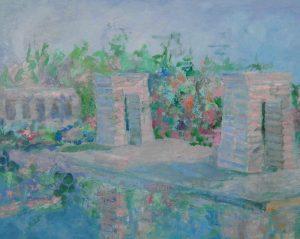 TEMPLO DE DEBOD Oleo sobre lienzo 65 x 81