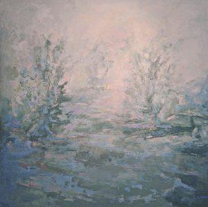 PAISAJE SOÑADO IV Oleo sobre lienzo 195 x 195