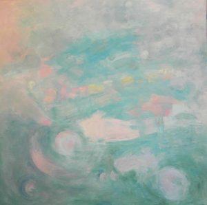 TRANSITO CÓSMICO Oleo sobre lienzo 100 x 100